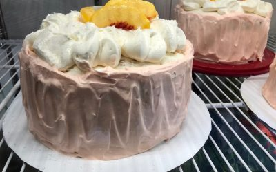 Peach Cream Cloud Cake