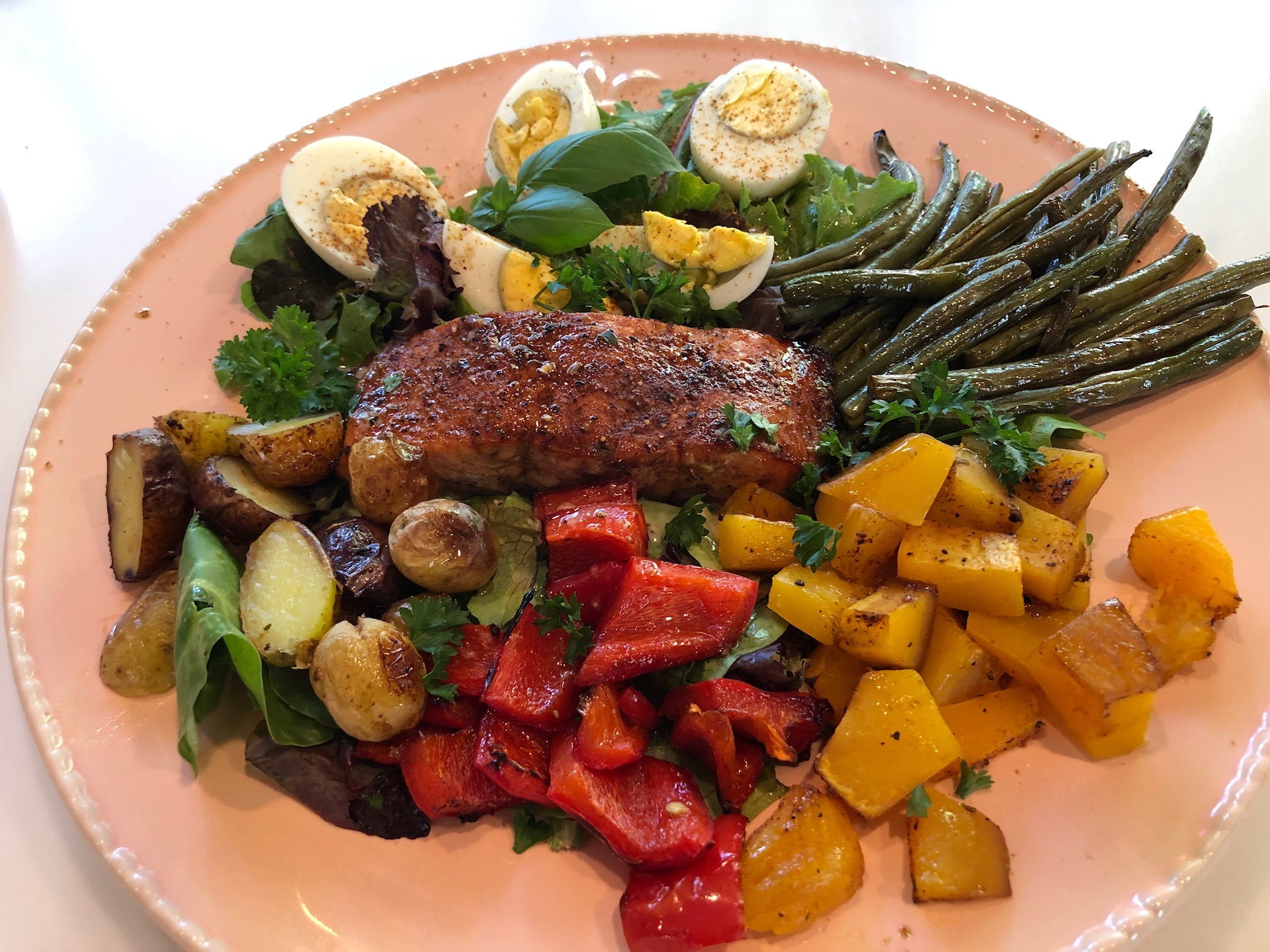 Harvest Salad Nicoise with Salmon