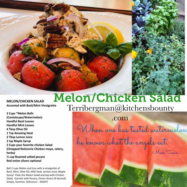 melon chicken salad