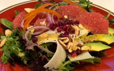 Rudy Red Grapefruit Salad with Poppyseed Dressing