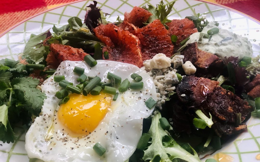 Broiled Grapefruit Brunch Salad