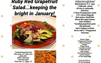 Red Ruby Grapefruit Salad… keeping the bright in January!