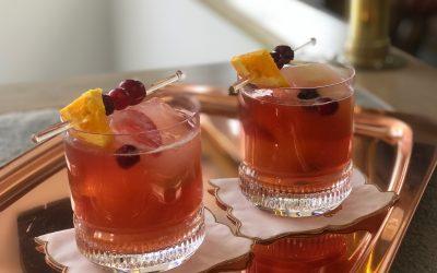 Bourbon Cranberry Sour