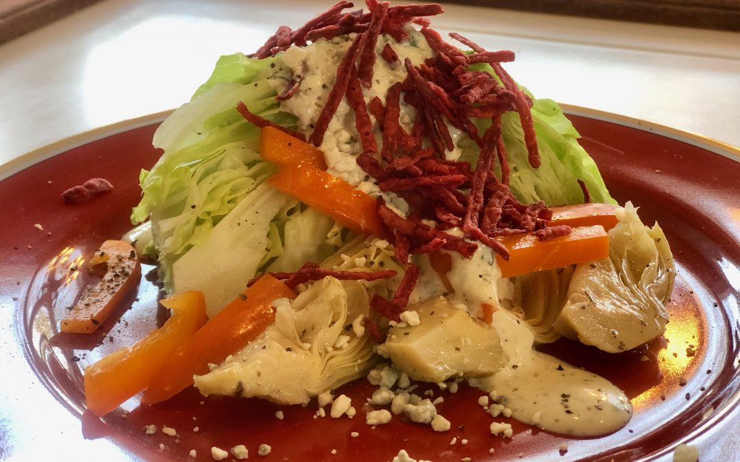 Wedge Salad Marinated Artichoke Hearts Green Goddess Dressing