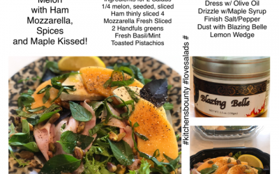 Melon with Ham, Mozzarella, Spices and Maple Kissed!