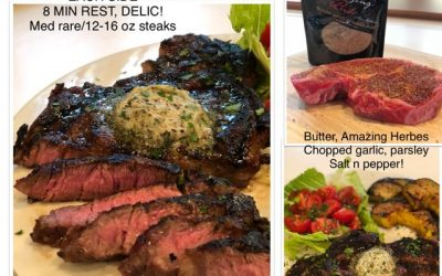 Grilled Ribeye with Amazing Herbes Butter